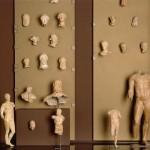 Вид части с глиняными фигурками