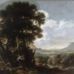 Танкреда на стволе дерева. Сальваторе Роза (1615-1673)