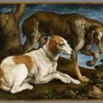 Две охотничьи собаки. Якопо Бассано (c.1515-1592)