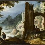 Святое семейство в руинах. Павел Бриль (1554-1626)