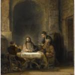 Паломники Эммаус. Рембрандт (1606-1669)