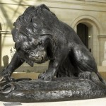 Лев и Змея. Barye Antoine Louis (1795-1875)