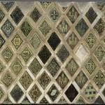 Алмазные пластины, имеющей сеть декоративно-геральдических мотивов