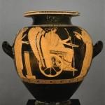Stamnos attique à figures rouges. Триптолем Художник (5-й век до н.э.) (приписывается)