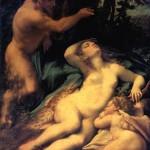 <b>АЛЛЕГРИ АНТОНИО, ПРОЗВАННЫЙ КОРРЕДЖО Венера, Сатир и Амур.</b>