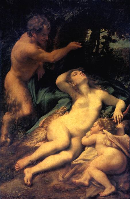 АЛЛЕГРИ АНТОНИО, ПРОЗВАННЫЙ КОРРЕДЖО Венера, Сатир и Амур.