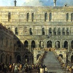 <b>ГВАРДИ ФРАНЧЕСКО Коронация дожа на Лестнице гигантов во Дворце дожей</b>