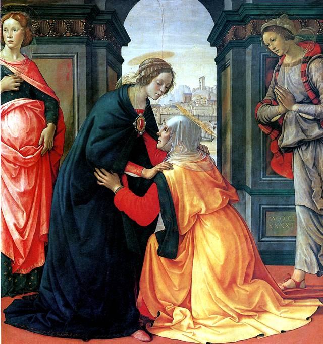 ГИРЛАНДАЙО ДОМЕНИКО Встреча Марии и Елисаветы