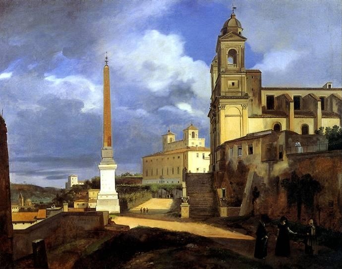 ГРАНЕ ФРАНСУА МАРИУС Церковь Тринита деи Монти в Риме, 1808