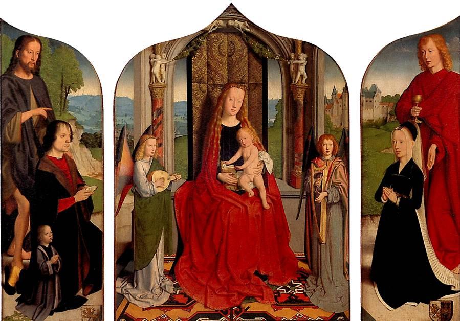 ДАВИД ГЕРАРД Мария с младенцем среди музицирующих ангелов, с донатором и его семьей, известная как Триптих семьи Седано