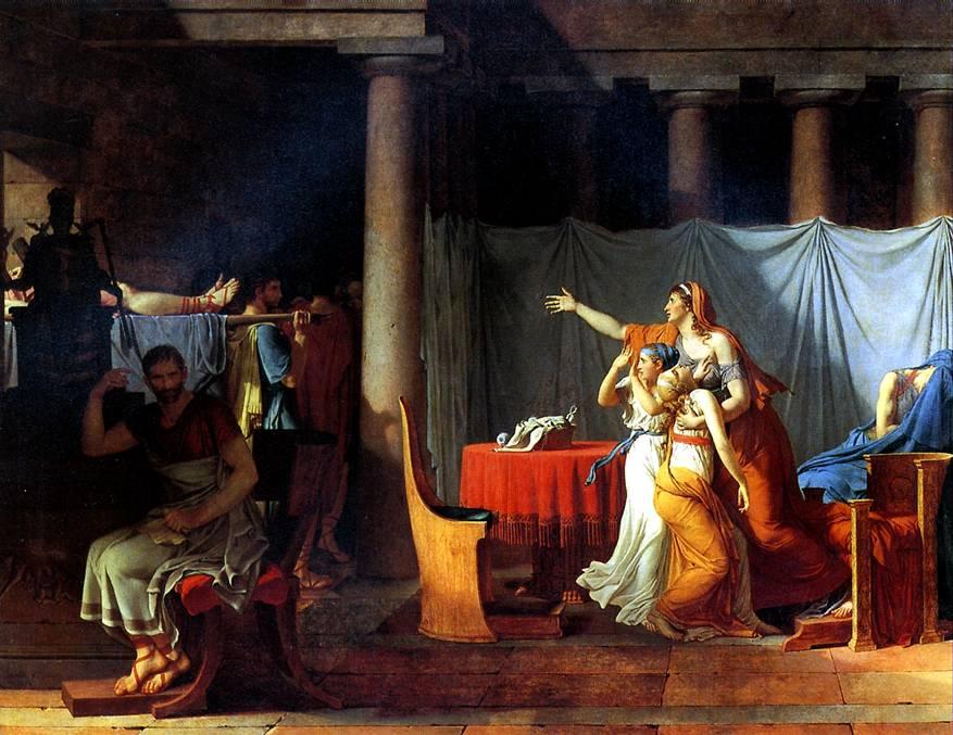 ДАВИД ЖАК ЛУИ Ликторы приносят Бруту тела его сыновей, 1789