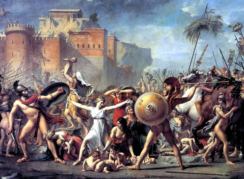 ДАВИД ЖАК ЛУИ Сабинянки, останавливающие сражение между римлянами и сабинянами, 1799