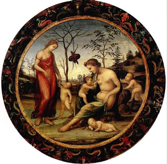 БАЦЦИ ДЖОВАННИ АНТОНИО, ПРОЗВАННЫЙ СОДОМА Любовь земная и небесная с Антеросом, Эросом и двумя купидонами, известна как Аллегория любви