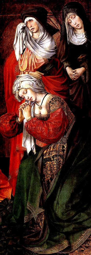 "ДЕ КОТЕР КОЛИН Три Марии из Оплакивания. Правая створка алтаря ""Трон благодати"""
