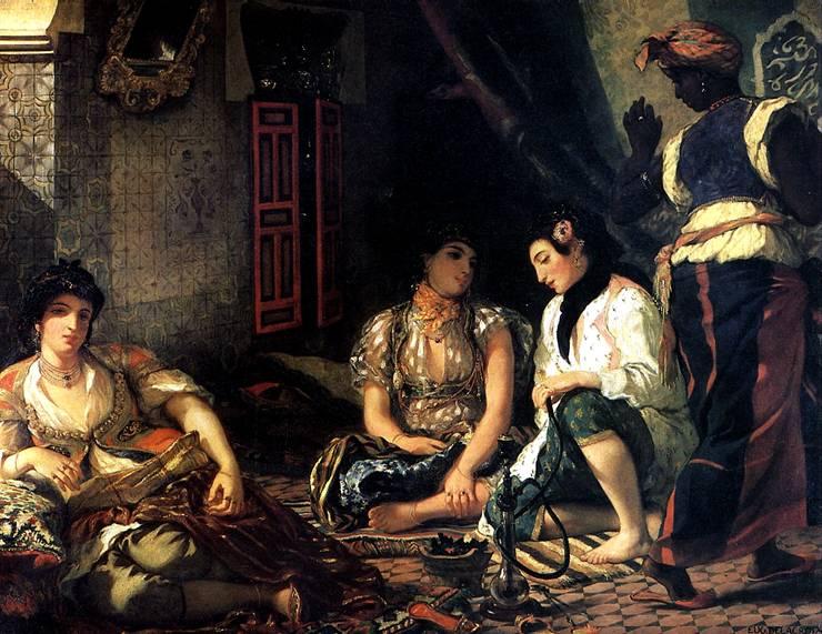 ДЕЛАКРУА ЭЖЕН Алжирские женщины, 1834