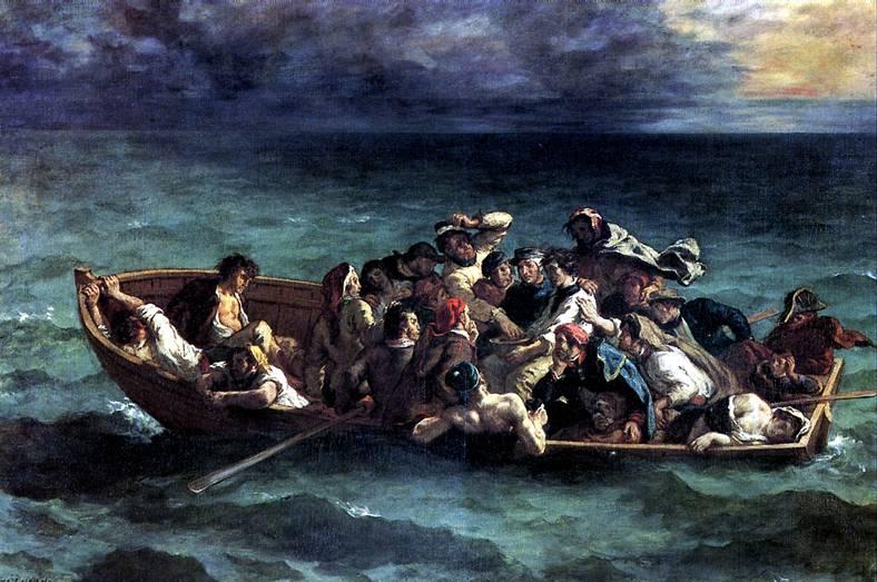 ДЕЛАКРУА ЭЖЕН Кораблекрушение Дон Жуана, 1840