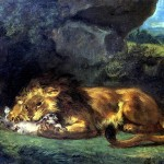 <b>ДЕЛАКРУА ЭЖЕН Лев, пожирающий кролика</b>