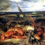 <b>ДЕЛАКРУА ЭЖЕН Натюрморт с омаром и трофеями охоты и рыбной ловли</b>