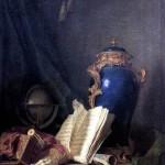 <b>ДЕЛАПОРТ АНРИ ОРАС РОЛАН Натюрморт с лазуритовой вазой, глобусом и волынкой</b>