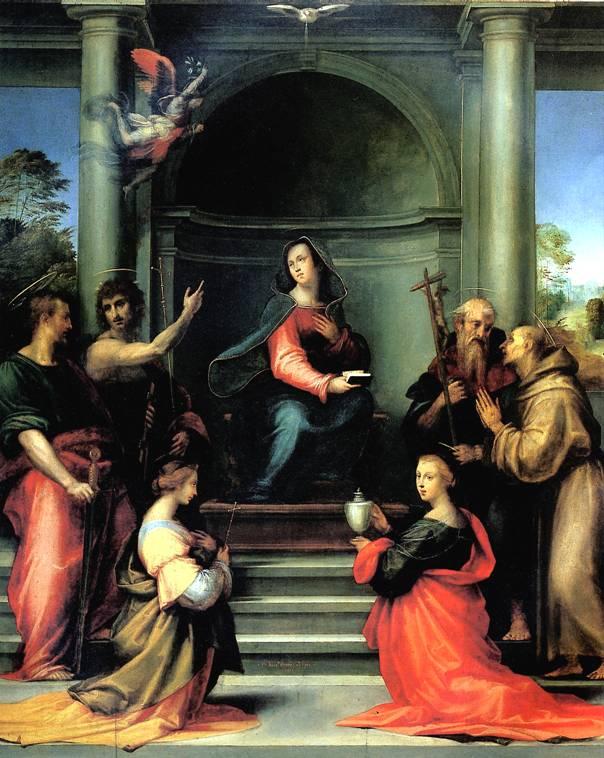 ДЕЛЛА ПОРТА БАЧЧО, ПРОЗВАННЫЙ ФРА БАРТОЛОМЕО Благовещение со святыми Маргаритой, Марией Магдалиной, Павлом, Иоанном Крестителем, Иеронимом и Франциском
