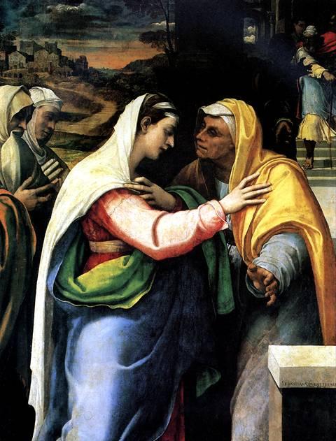 ДЕЛЬ ПЬОМБО СЕБАСТЬЯНО Встреча Марии и Елисаветы, 1519 (датирована 1521)