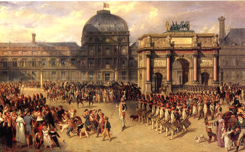 БЕЛЛАНЖЕ ЖОЗЕФ ЛУИ ИППОЛИТ Парад на плацу Каррузель возле дворца Тюильри во времена Империи