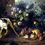 <b>ДЕПОРТ ФРАНСУА Натюрморт с собакой и битой дичью у розового куста, 1724</b>