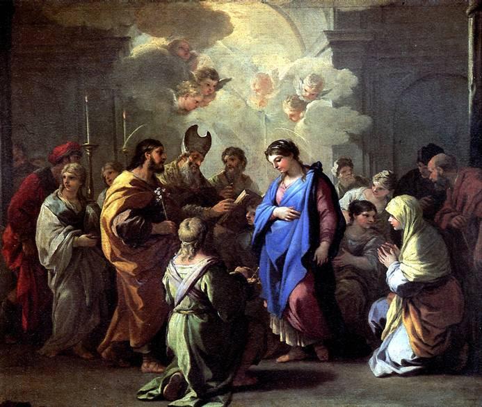 ДЖОРДАНО ЛУКА Обручение Марии с Иосифом