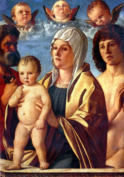 БЕЛЛИНИ ДЖОВАННИ Мадонна с младенцем и со святыми Петром и Себастьяном