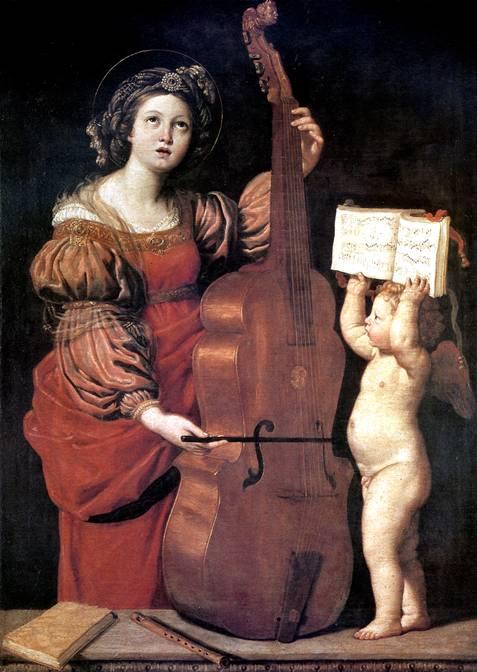 ДЗАМПЬЕРИ ДОМЕНИКО, ПРОЗВАННЫЙ ДОМЕНИКИНО Музицирующая св. Цецилия с ангелом, 1620