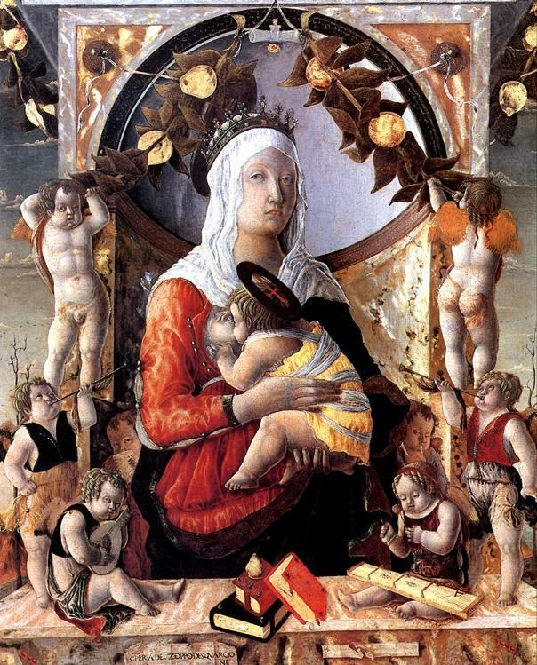 ДЗОППО МАРКО Мадонна с младенцем в окружении восьми ангелов