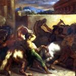 <b>ЖЕРИКО ТЕОДОР Бег свободных лошадей в Риме, 1817</b>