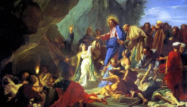 ЖУВЕНЕ ЖАН Воскрешение Лазаря, 1706