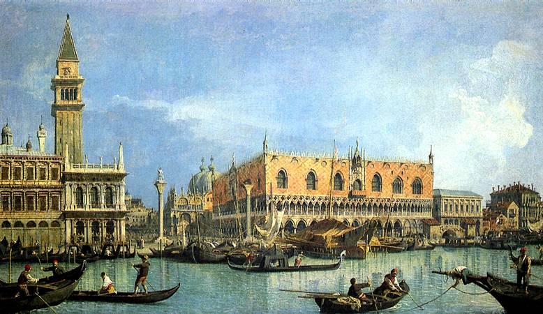 КАНАЛЬ ДЖОВАННИ АНТОНИО, ПРОЗВАННЫЙ КАНАЛЕТТО Вид на собор св. Марка и Дворец дожей в Венеции