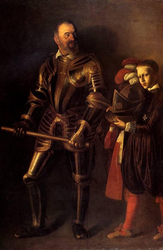 КАРАВАДЖО Алоф де Виньякур и его паж, 1608