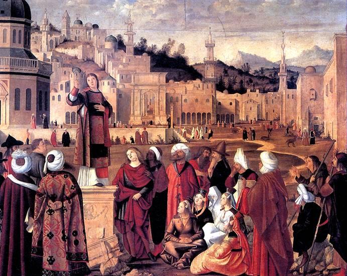 КАРПАЧЧО ВИТТОРЕ Св. Стефан, проповедующий в Иерусалиме