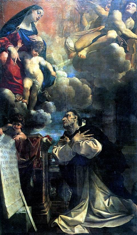 КАРРАЧЧИ ЛОДОВИКО Мадонна с младенцем, являющаяся св. Гиацинту, 1594
