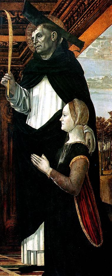 БЕРГОНЬОНЕ Св. Петр-мученик с женщиной-донатором