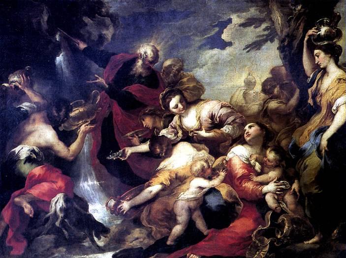 КАСТЕЛЛО ВАЛЕРИО Моисей, иссекающий воду из скалы