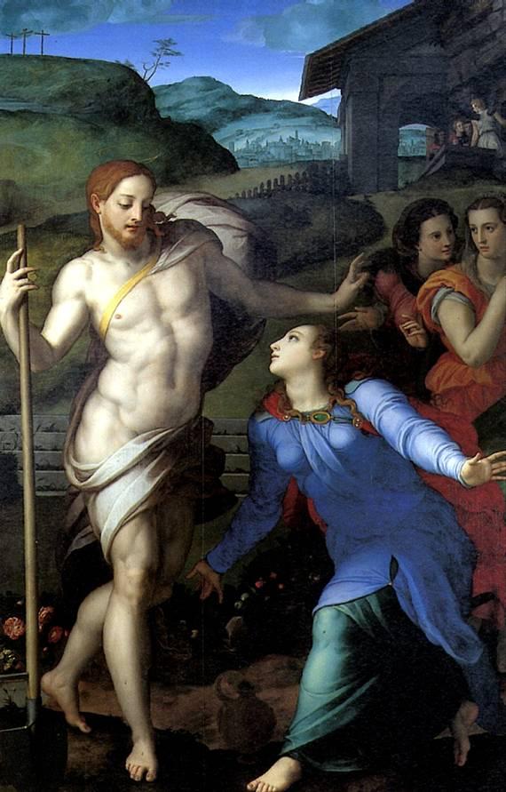 КОЗИМО АНДЖЕЛО ДИ, ПРОЗВАННЫЙ БРОНЗИНО «Не тронь меня» (Явление Христа Марии Магдалине), ок. 1560