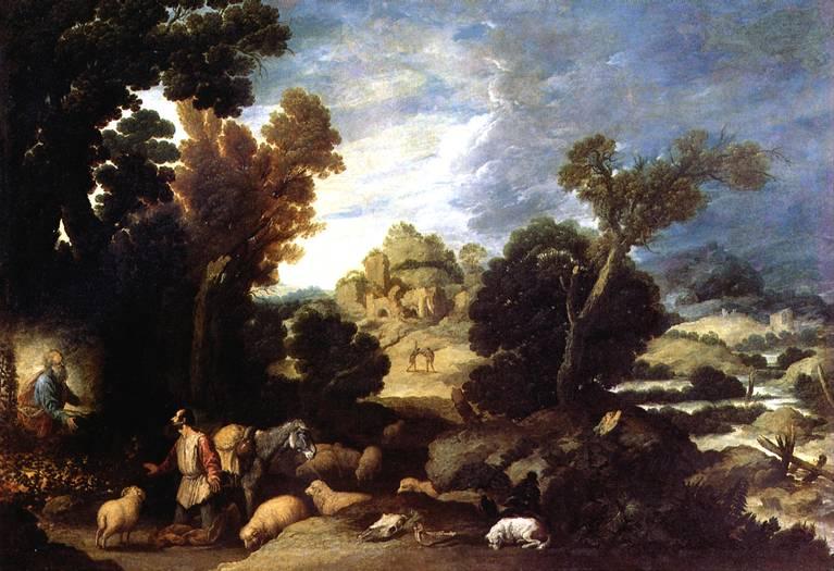 КОЛЛАНТЕС ФРАНСИСКО Неопалимая купина; Бог приказывает Моисею вывести израильтян из Египта