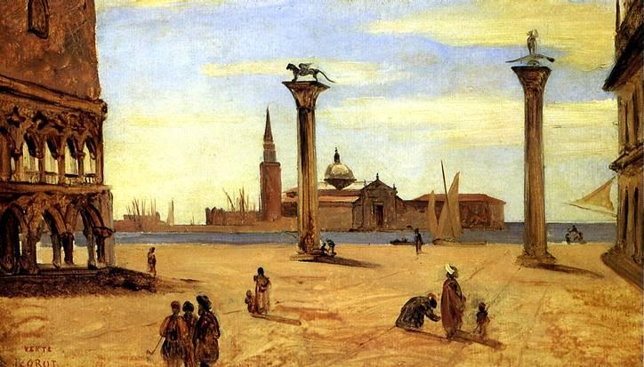 КОРО ЖАН БАТИСТ КАМИЛЬ Венеция, Пьяццетта, август-сентябрь, 1834