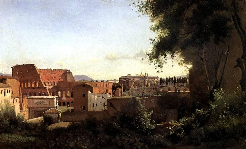 КОРО ЖАН БАТИСТ КАМИЛЬ Вид Колизея от садов Фарнезе, 1826