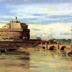 <b>КОРО ЖАН БАТИСТ КАМИЛЬ Замок святого Ангела и Тибр в Риме</b>