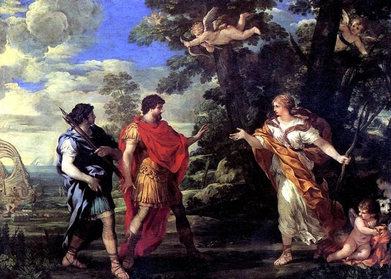 КОРТОНА ПЬЕТРО ДА Венера является Энею в образе богини охоты