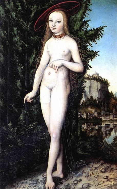 КРАНАХ ЛУКАС СТАРШИЙ Венера на фоне пейзажа
