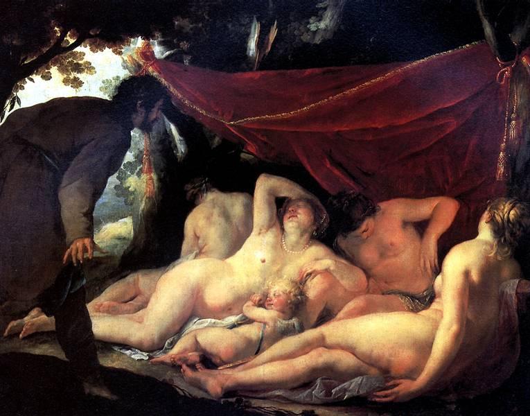 БЛАНШАР ЖАК Венера и Грации, застигнутые простым смертным