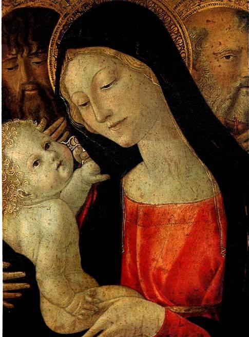 ЛАНДИ НЕРОЧЧЬО ДИ БАРТОЛОМЕО ДИ БЕНЕДЕТТО Мадонна с младенцем и со святыми Иоанном Крестителем и Антонием