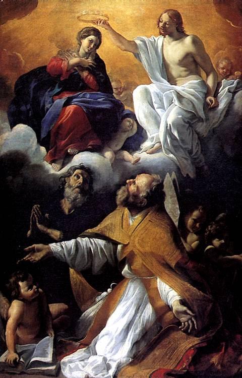 ЛАНФРАНКО ДЖОВАННИ Коронование Девы Марии со святыми Августином и Уильямом Аквитанским