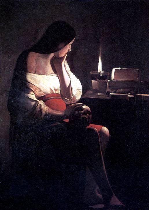 ЛАТУР Скорбящая св. Магдалина, или Магдалина перед светильником